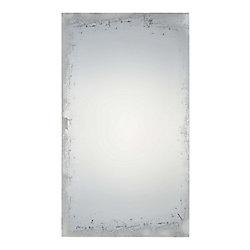"""Notre Dame Design Miroir mural Traditionnel sans cadre """"Chase"""" 40 H x 24  L  pleine grandeur"""