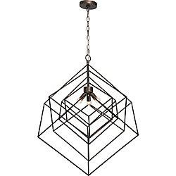 Notre Dame Design Andrano 3-Light 100W Dark Antique Silver Pendant
