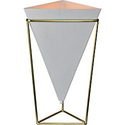 Notre Dame Design Hester 22-Inch Satin Brass Table Lamp With Iron Shade