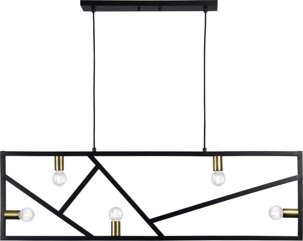 Renwil Euston 5-Light 40W Satin Brass Pendant