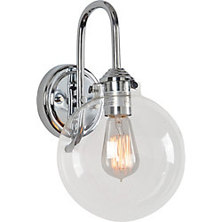 Renwil Reather 1-Light 60W Chrome Sconce