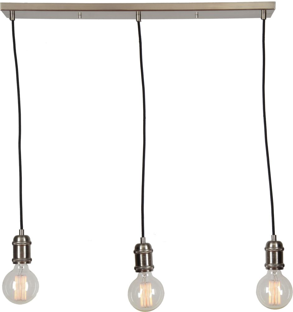 Renwil Epworth 3-Light 40W Brushed Nickel Pendant