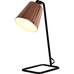 Renwil Petunia 6-Inch Black Table Lamp With Iron Shade