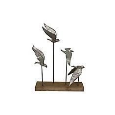 Alton Decorative Sculpture in Silver