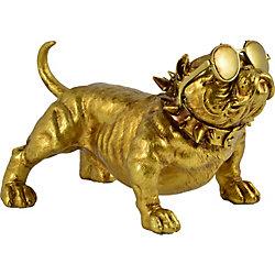 Notre Dame Design Bailey Decorative Statue in Gold