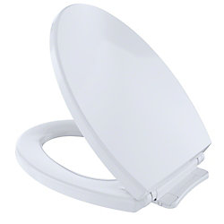 TOTO SoftClose Non Slamming, Slow Close Elongated Toilet Seat and Lid, Cotton White