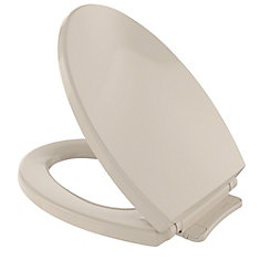 SoftClose Non Slamming, Slow Close Elongated Toilet Seat and Lid, Bone