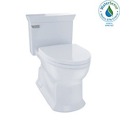 Eco Soirée One Piece Elongated 1.28 GPF Universal Height Skirted Toilet, Cotton White