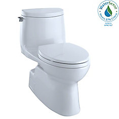 Carlyle II 1G One-Piece Elongated 1.0 GPF Universal Height Skirted Toilet, Cotton White