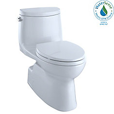 Carlyle II One-Piece Elongated 1.28 GPF Universal Height Skirted Toilet, Cotton White