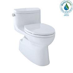 Carolina II One-Piece Elongated 1.28 GPF Universal Height Skirted Toilet, Cotton White