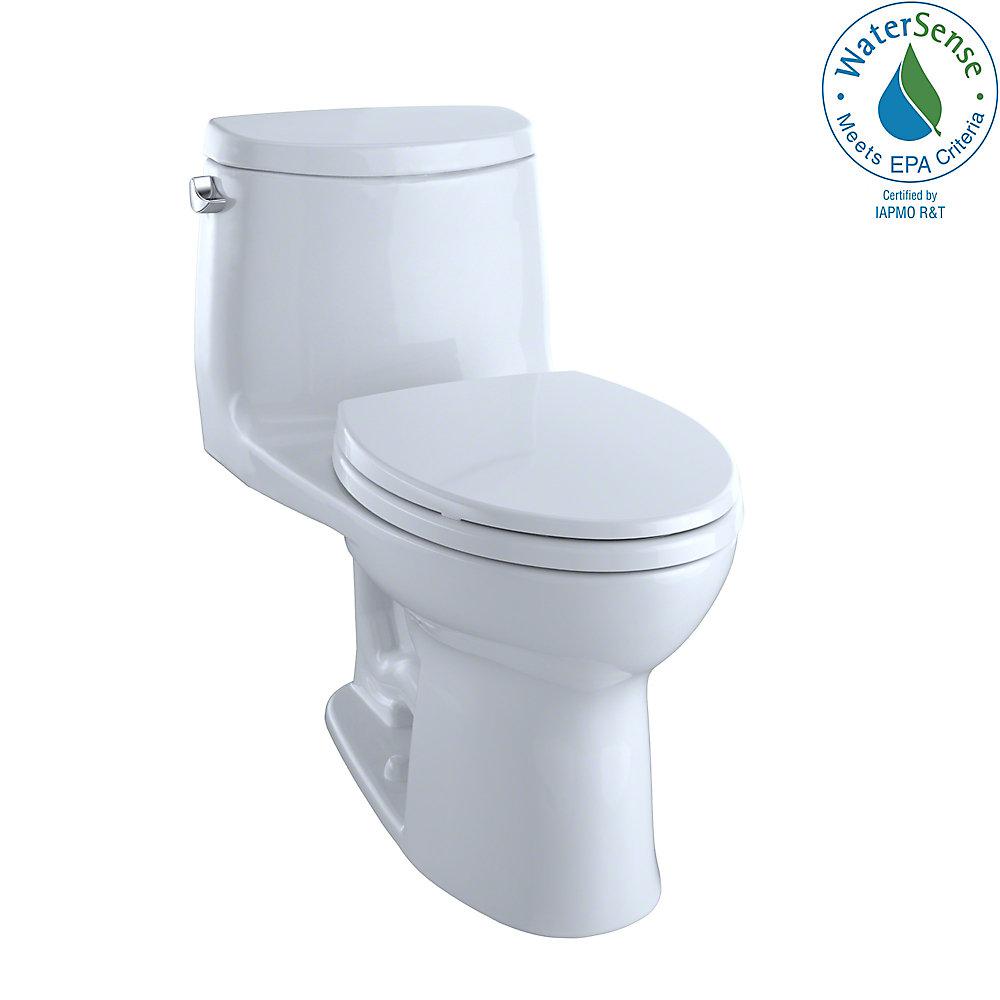 Toilette monobloc allongée UltraMaxII, 4,8LPC, hauteur universelle, CeFiONtect, blanc coton