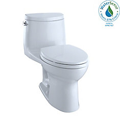 UltraMax II One-Piece Elongated 1.28 GPF Universal Height Toilet with CeFiONtect, Cotton White