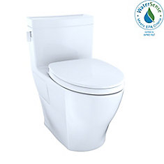 Legato WASHLET One-Piece Elongated 1.28 GPF Universal Height Skirted Toilet, Cotton White