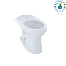 TOTO Drake II Universal Height Elongated Toilet Bowl with CeFiONtect, Cotton White