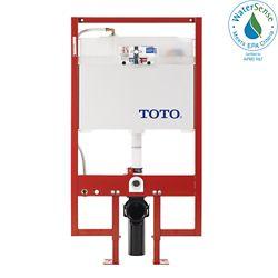 TOTO Système de double chasse d'eau DuoFitMD dans le mur avec alimentation PEX, blanc de coton