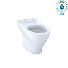 Aquia Universal Height Elongated Toilet Bowl for 10 Inch Rough-In, Cotton White