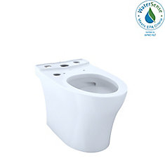 Aquia IV Connect+ Elongated Skirted Toilet Bowl with CeFiONtect, Cotton White