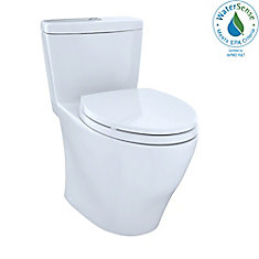 Aquia One-Piece Elongated Dual-Max, Dual Flush 0.9 & 1.6 GPF Universal Height Toilet, Cotton White