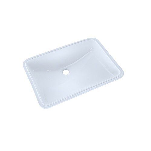 TOTO 21-1/4 inch x 14-3/8 inch Large Rectangular Undermount Bathroom Sink with CeFiONtect, Cotton White