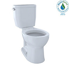 Entrada Two-Piece Round 1.28 GPF Universal Height Toilet, Cotton White