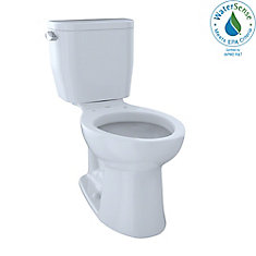 Entrada Two-Piece Elongated 1.28 GPF Universal Height Toilet, Cotton White