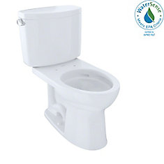 Drake II Two-Piece Elongated 1.28 GPF Universal Height Toilet with CeFiONtect, Cotton White