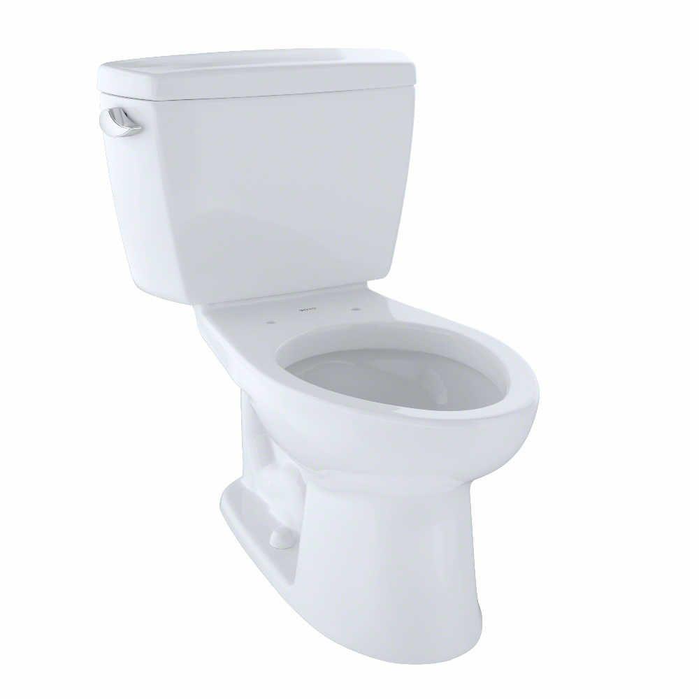 TOTO Drake 2-Piece Elongated 1.6 GPF ADA Compliant Toilet, Cotton White