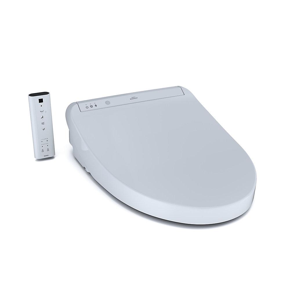 K300 WASHLET Elongated Bidet Toilet Seat Featuring Instantaneous Water  Heating, Premist, Cotton