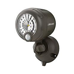 Mr. Beams Projecteur LED XT avec détecteur de mouvement sans fil - Brun - 200 lumens polyvalent