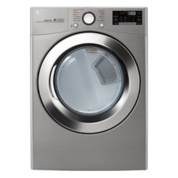 LG Electronics 7.4 cu. ft. Ultra Large Capacity Electric Dryer with TrueSteam Technology In Graphite Steel - ENERGY STAR®