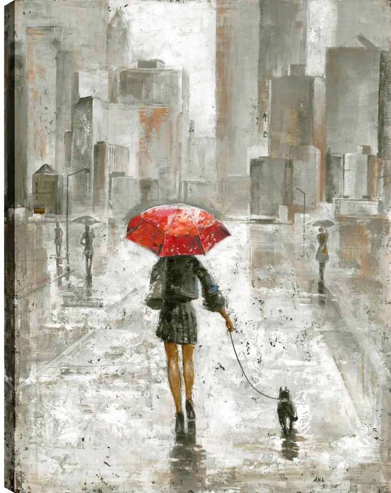 Art Maison Canada The Umbrella Girl V, Contemporary Art, Printed Canvas Unframed