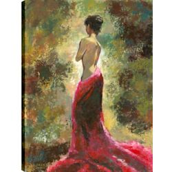 Art Maison Canada Lady In Red, Figurative Art, Printed Canvas Unframed