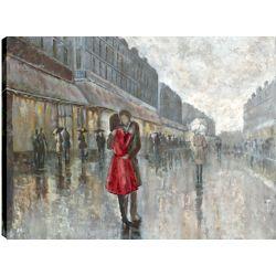 Art Maison Canada Red Dress I, figurative art, Printed Canvas Unframed