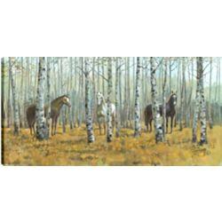 Art Maison Canada Terres agricoles, j'ai, Art animalier, imprimé toile sans cadre