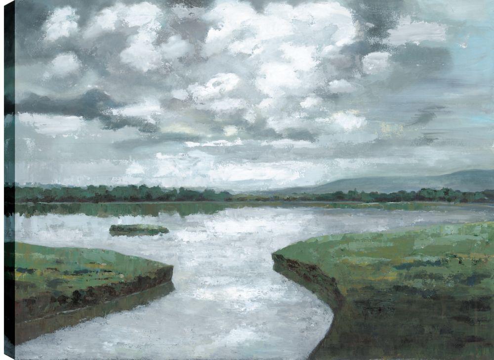 Art Maison Canada Lake View II, Landscape Art, Printed Canvas Unframed