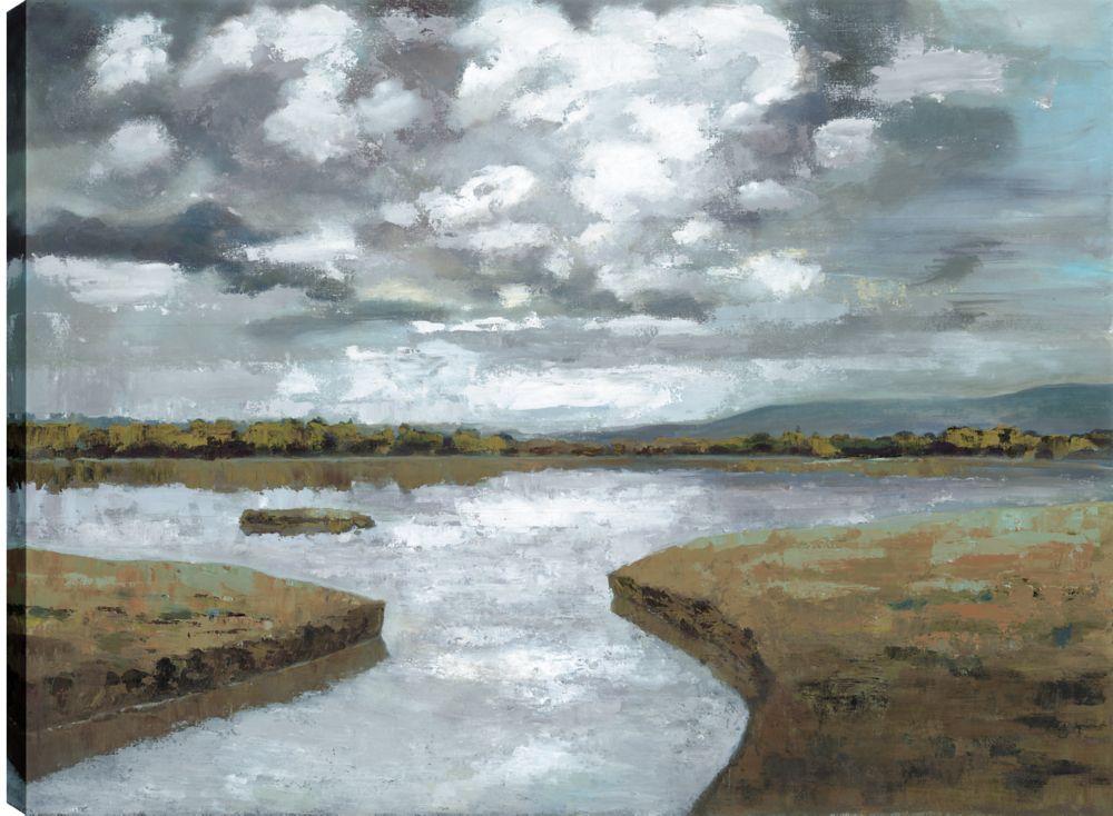 Art Maison Canada Lake View IV, Landscape Art, Printed Canvas Unframed