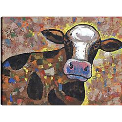 Art Maison Canada Cow I, Animal Art, Printed Canvas Unframed