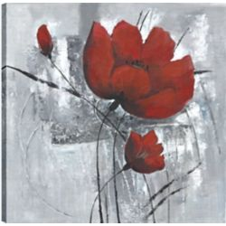 Art Maison Canada Red Florals I, Floral Art, Printed Canvas Unframed