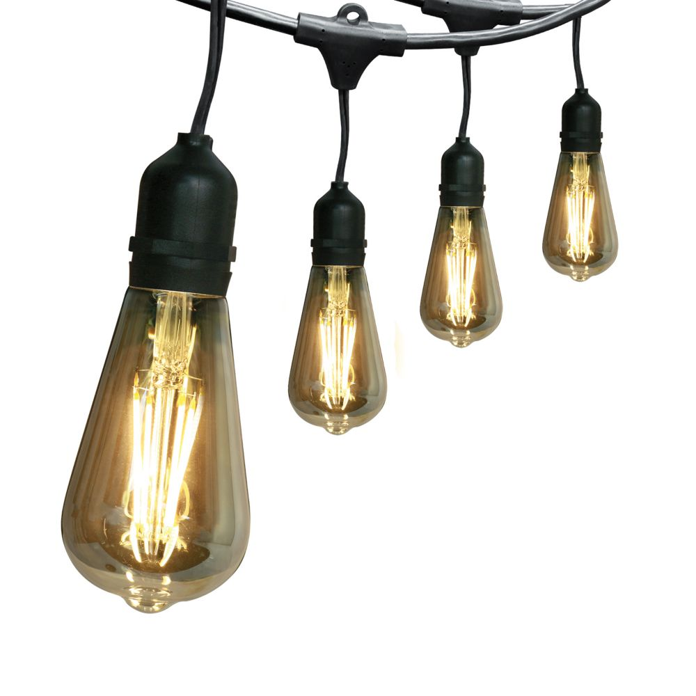 Home Depot String Lights: Feit Electric 30 Ft. 15-Light LED String Light Set