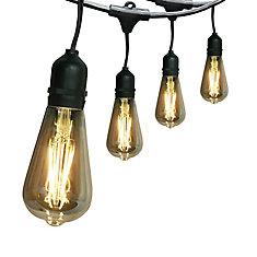 30 ft. 15-Light LED String Light Set