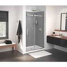 Inverto 43-47 inch x 74 inch Sliding Shower Door in Brushed Nickel