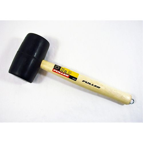 Fuller 32-Ounce Double-Faced Black Rubber Mallet