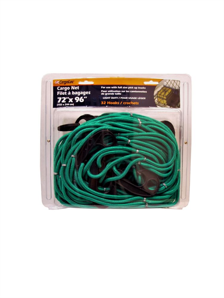 Fuller Bungee Cord Cargo Net for Full-Size Pickup Trucks (96 Inches x 72 Inches)