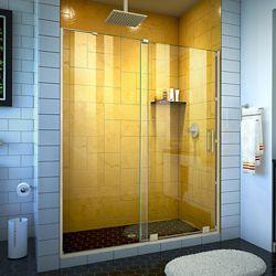 DreamLine Mirage-Z 50-54 inch W x 72 inch H Frameless Sliding Shower Door in Brushed Nickel