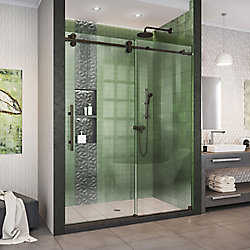 Enigma-XO 56-60 inch W x 76 inch H Fully Frameless Sliding Shower Door in Oil Rubbed Bronze
