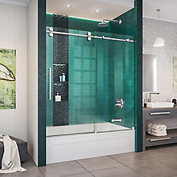 DreamLine Enigma-XO 55-59 inch W x 62 inch H Fully Sliding Tub Door in Polished Stainless Steel