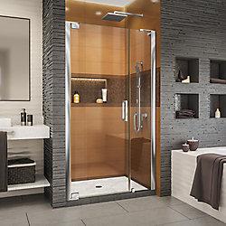 DreamLine Elegance-LS 40 1/2 - 42 1/2 inch W x 72 inch H Frameless Pivot Shower Door in Chrome