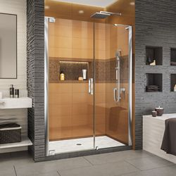 DreamLine Elegance-LS 57 3/4 - 59 3/4 inch W x 72 inch H Frameless Pivot Shower Door in Chrome