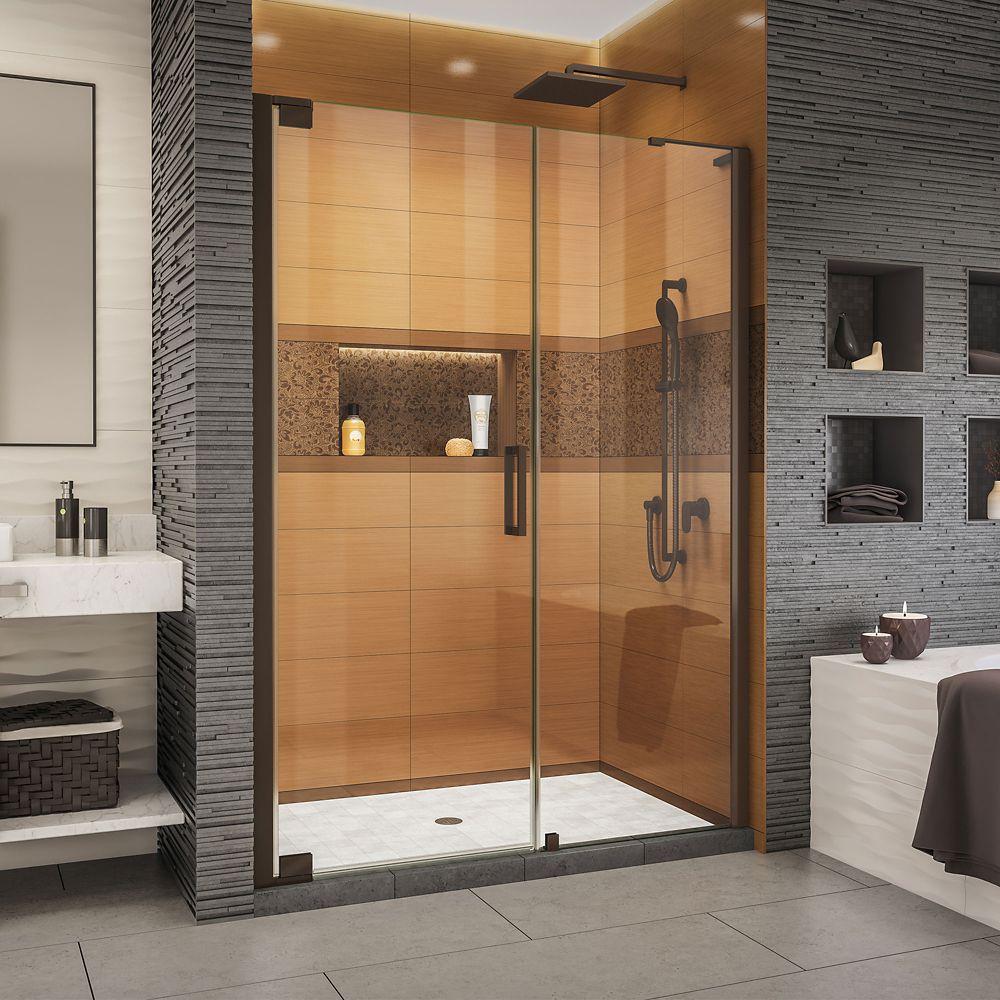 DreamLine Elegance-LS 57 3/4 - 59 3/4 inch W x 72 inch H Pivot Shower Door in Oil Rubbed Bronze